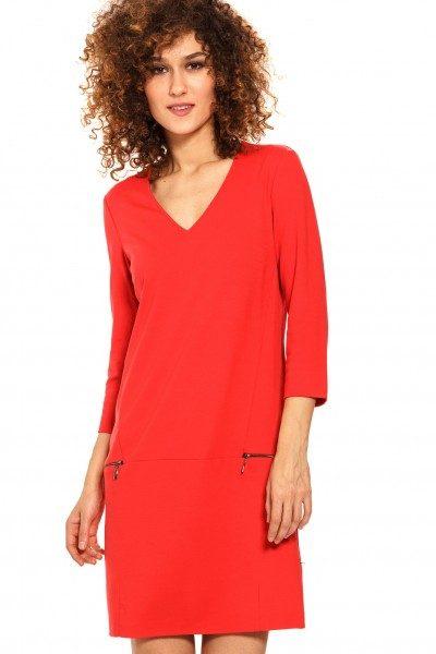 Vera Mont Kleid Damen, elegant, rot - Abiballkleider24